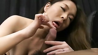 Pretty Huge-boobed  Japanese MILF's Honeypot  Creampied