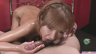 Greased  Up Teen Sumire Matsu Sucks Jizz-shotgun In POV