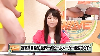 Japanese TV Announcer Hottie Bukkake 420