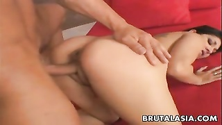 Chesty Oriental Bitch Gets Her Cunny Pumped Good