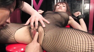 Busty Brunette Gets Her Hairy Slit Fingered And Clit Teased