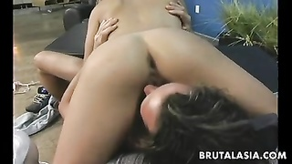 Yellow-haired Oriental Whore Rides The Schlong So She Cums Selfishly