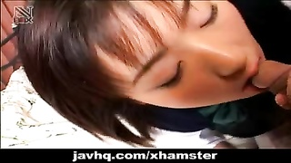 Dozing Japanese Teenage  Wakes Up For A Soiled Bj Uncensored