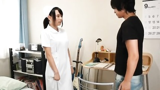 Young Japanese Medical Nurse Female Throats And Jerks Hard-ons