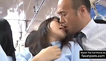 Public Sex With A Teen Japanese Schoolgirl In Bus