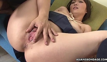 Japanese Teen Brunette Haruka Osawa Is Into Bondage And Orgas