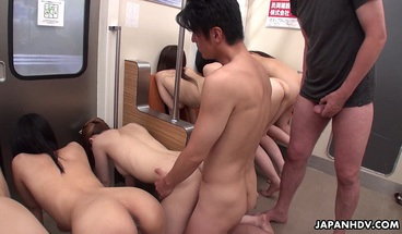 Blasting Tight Ass Asian Sexy Teens In A Row
