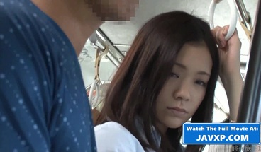 Asian Teen On The Bus