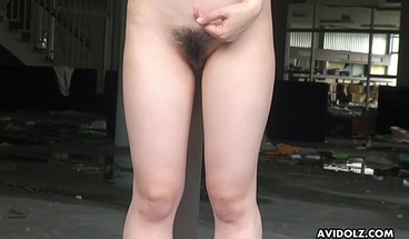 Japanese Model, Kazumi Saijo Is Showing Her Hairy Pussy, Unce
