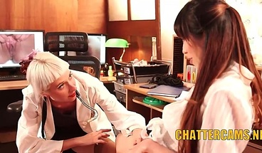 Lesbian Doctor Gives Asian Fisting Check Up