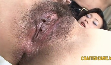 Asian MILF Gets Rough Double Penetation