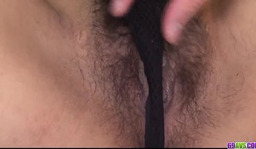 Airi Ai Takes Large Inches Of Cock Into Her Hairy Asian Pussy