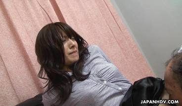 Japanese Porn - Asian Babe Has Her Hairy Snatch Licked Clean