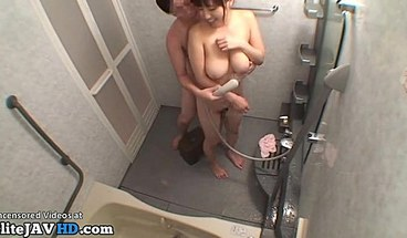 Japanese Big Tits Milf Fucked In The Shower